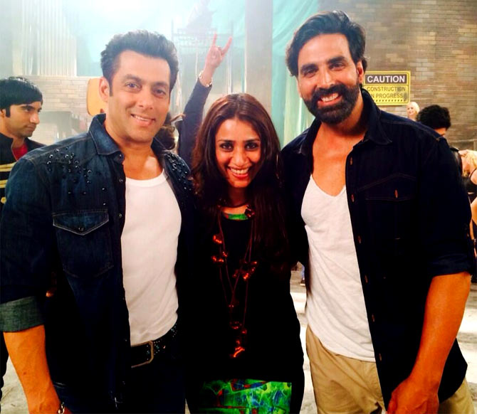 Salman Khan, Ashvini Yardi and Akshay Kumar