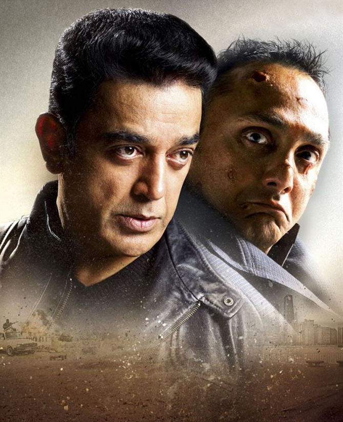 Kamal Haasan and Rahul Bose in Vishwaroopam