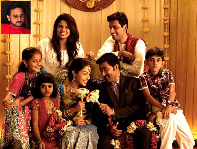 A scene from Kalyana Samayal Saadham. Inset: Director R S Prasanna
