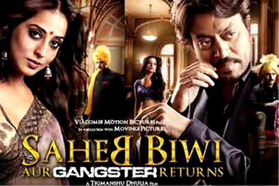 Movie poster of Saheb Biwi Aur Gangster Returns