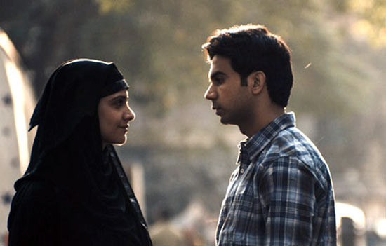 Prabhleen Sandhu and Rajkummar Rao in Shahid