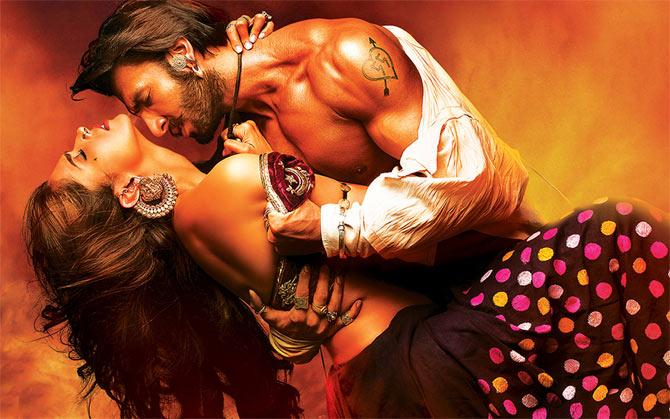 Deepika Padukone and Ranveer Singh in Goliyon Ki Rasleela Ram-Leela