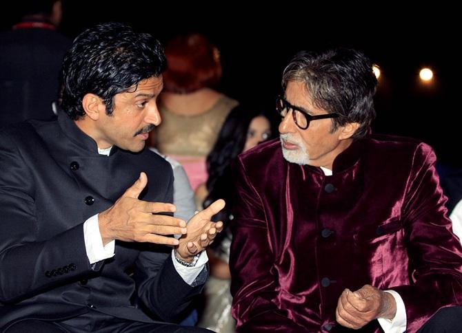 Farhan Akhtar and Amitabh Bachchan