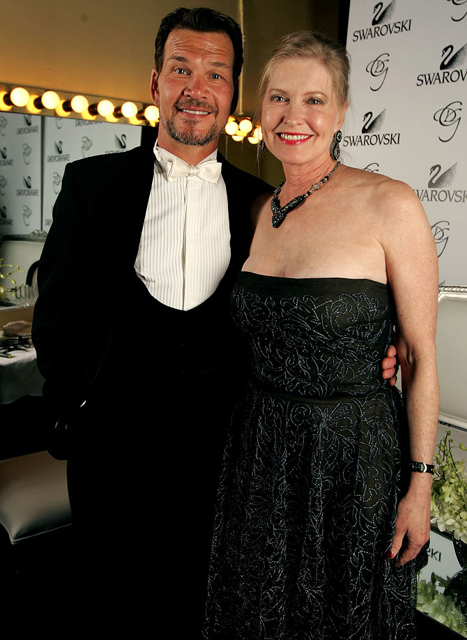 Patrick Swayze with Lisa Niemi