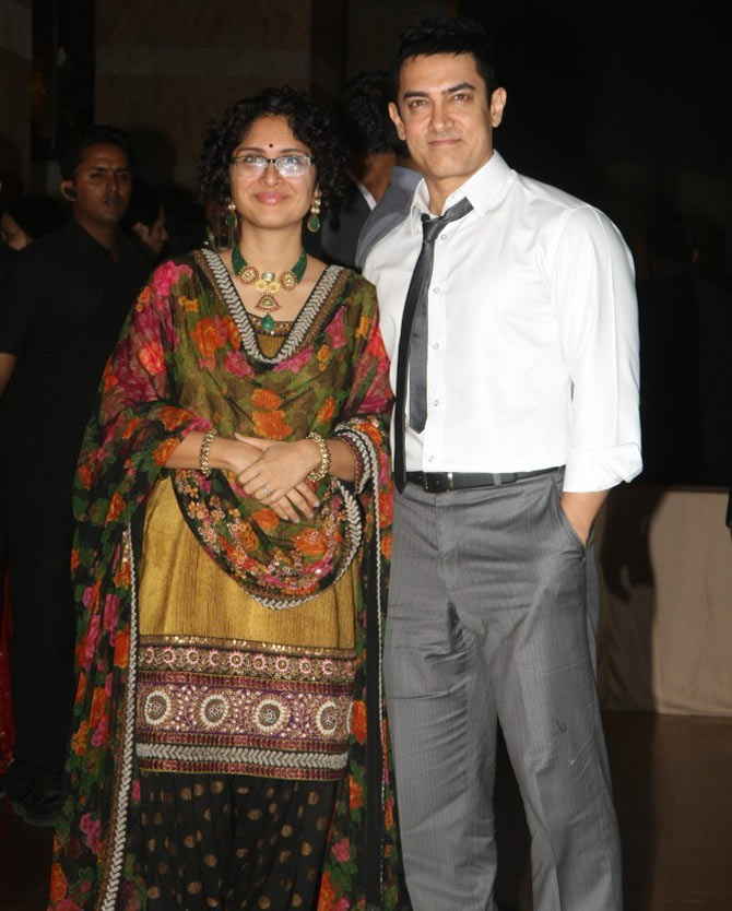 Kiran Rao and Aamir Khan.