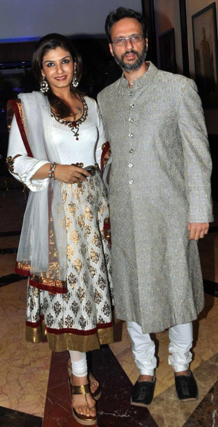 Raveena Tandon and Anil Thadani