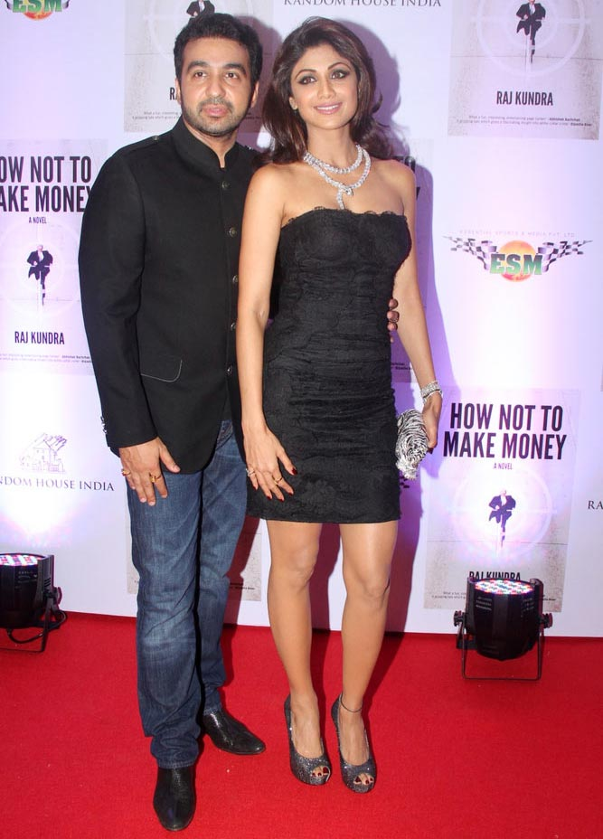 Raj Kundra and Shilpa Shetty.
