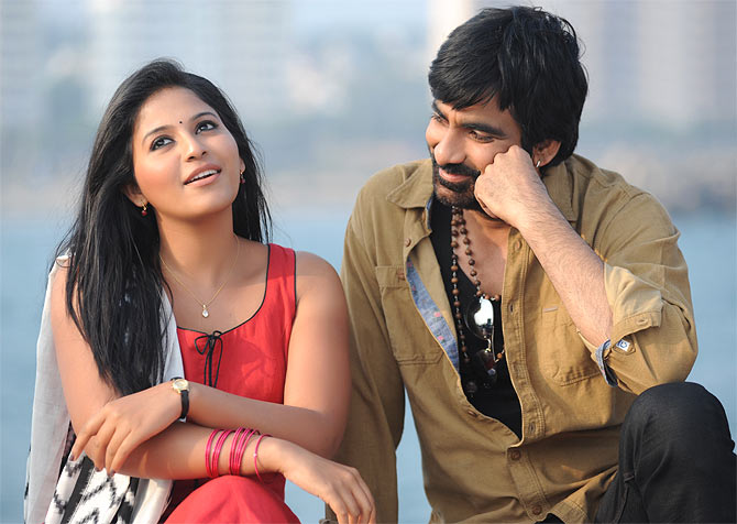 Anjali and Ravi Teja in Balupu