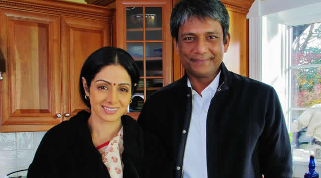 Adil Hussain and Sridevi in English Vinglish
