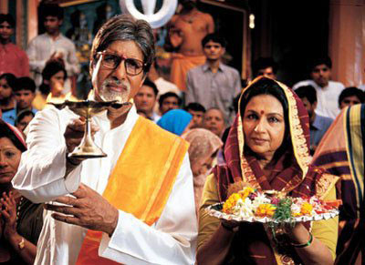 Amitabh Bachchan and Sharmila Tagore in Viru
