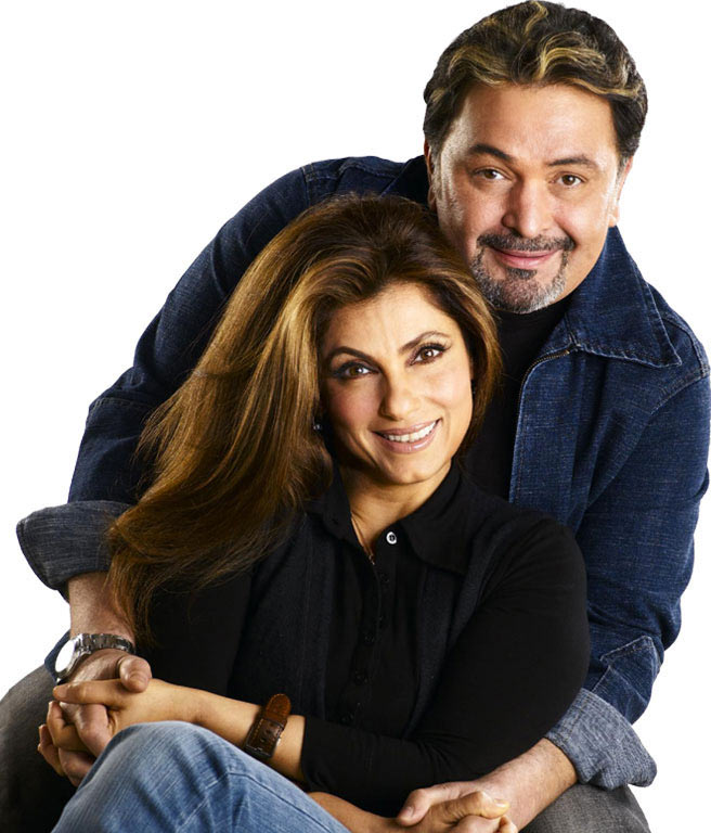 Rishi Kapoor and Dimple Kapadia in Pyaar Mein Twist