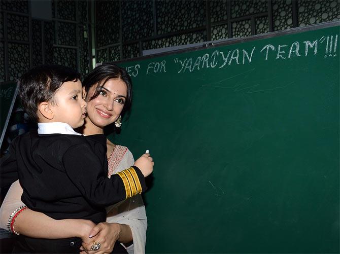 Divya Khosla Kumar with her son
