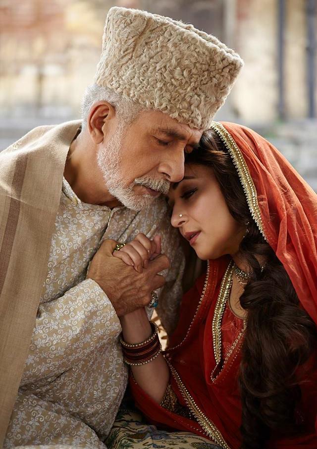 Naseeruddin Shah and Madhuri Dixit in Dedh Ishqiya