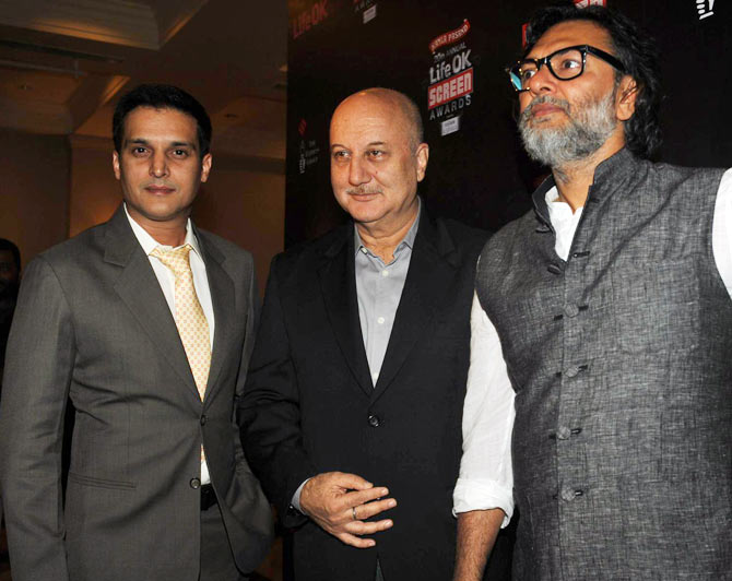 Jimmy Shergill, Anupam Kher and Rakeysh Omprakash Mehra