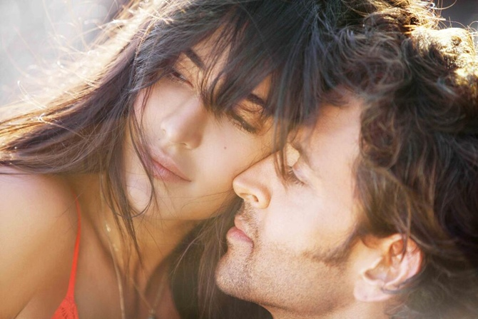Katrina Kaif and Hrithik Roshan in Bang Bang