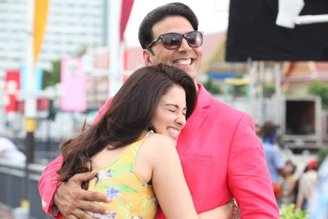 Tamannaah Bhatia and Akshay Kumar in It's Entertainment