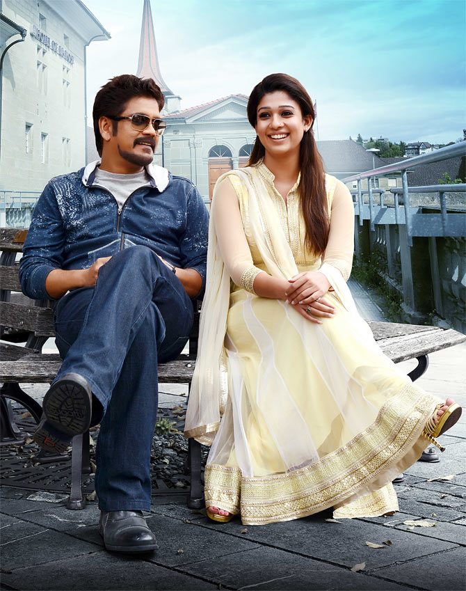 kkineni Nagarjuna and Nayanthara in Greeku Veerudu