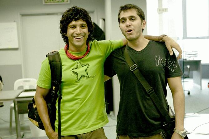 Farhan Akhtar with Ritesh Sidhwani