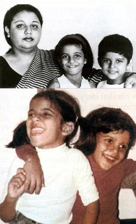 Honey Irani with Zoya and Farhan Akhtar in their younger days