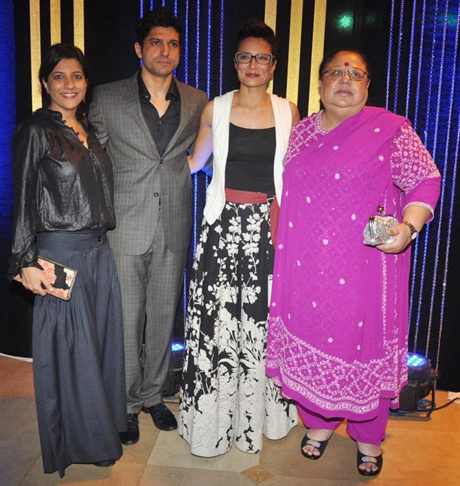 Zoya, Farhan, Adhuna Akhtar and Honey Irani