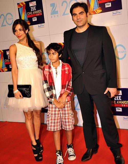 Malaika Arora Khan with son Arhaan and husband Arbaaz