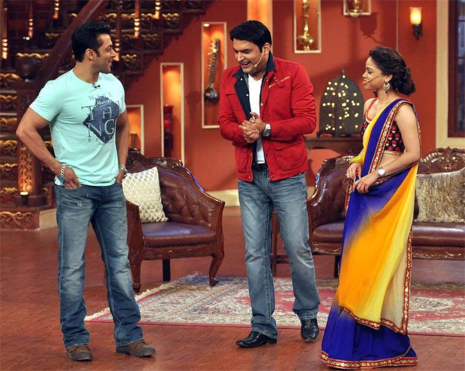 Salman Khan, Kapil Sharma, Sumona Chakravarti