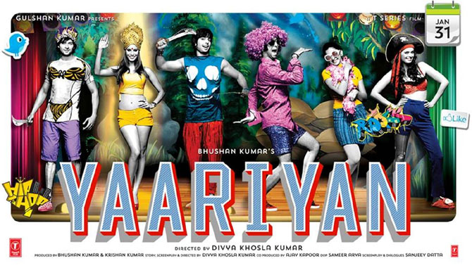 Movie poster of Yaariyan