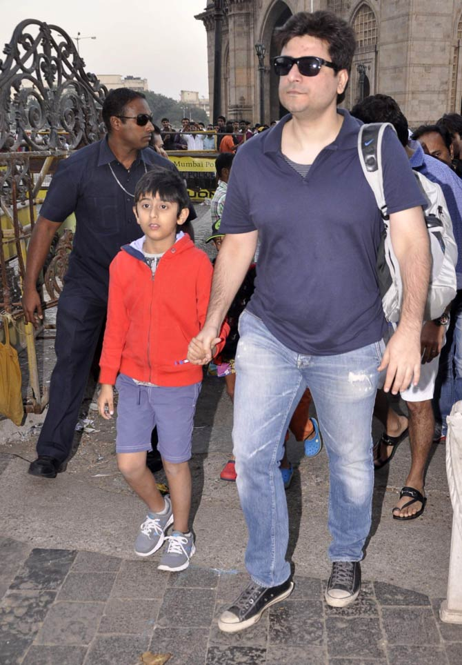 Goldie Behl with son Ranveer