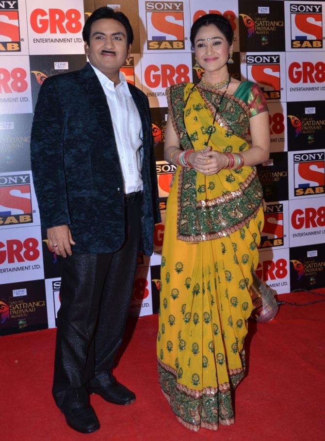 Dilip Joshi and Disha Wakani