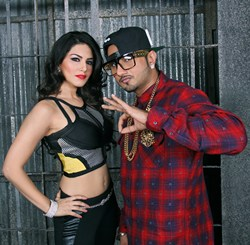 Suny Leone with Honey Singh