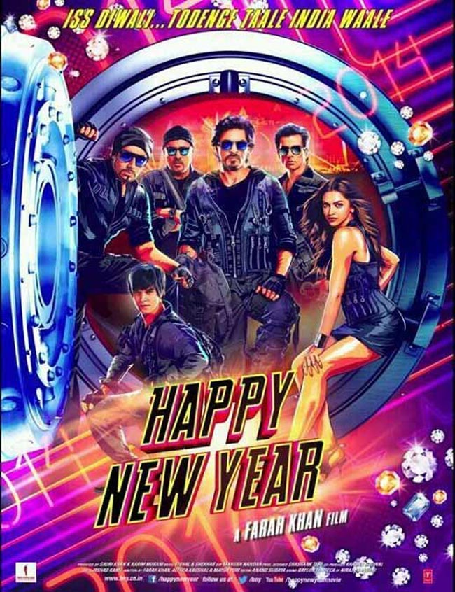 The Happy New Year poster.
