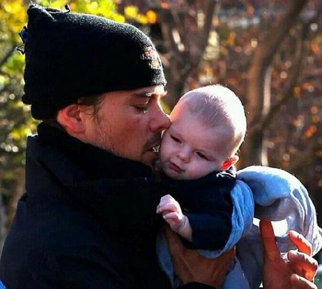 Josh Duhamel with son Axl Jack