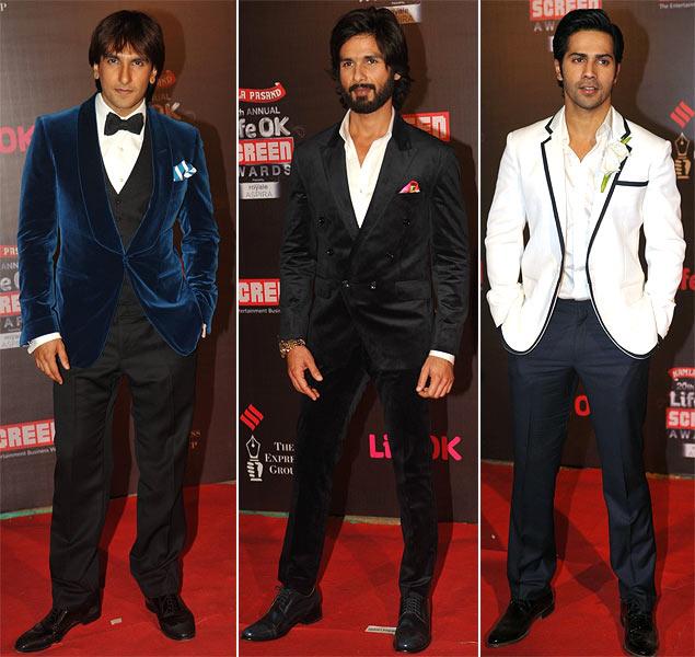 Ranveer Singh, Shahid Kapoor and Varun Dhawan