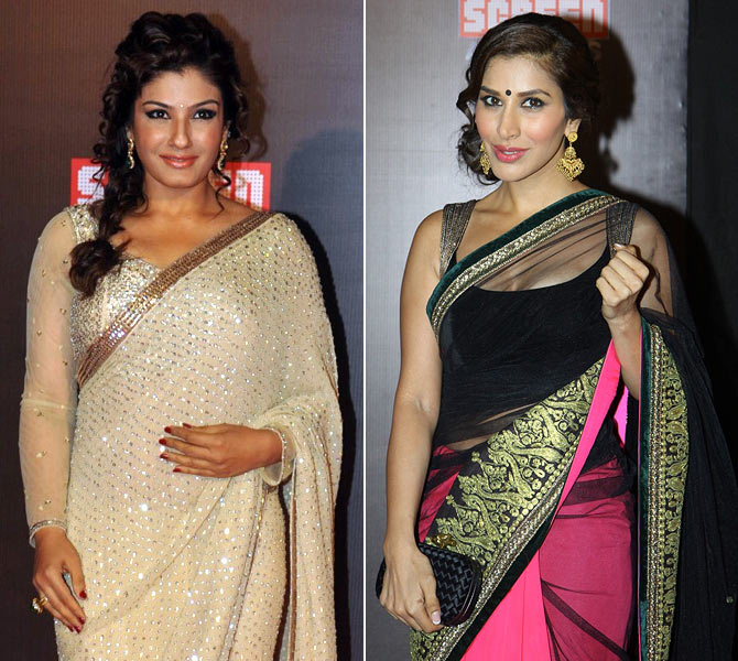 Sophie Choudhry and Raveena Tandon