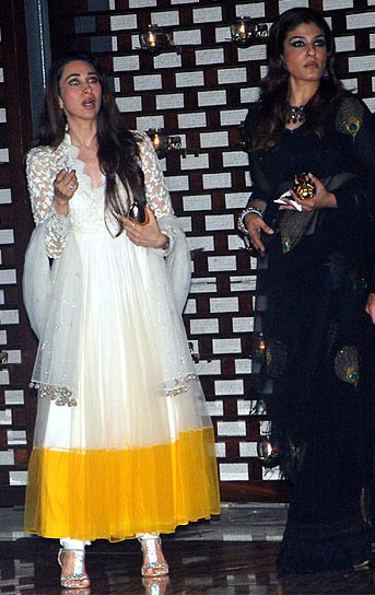 Karisma Kapoor and Raveena Tandon