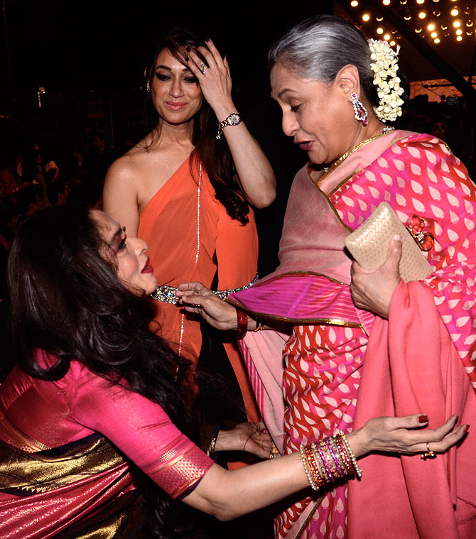 Rekha and Jaya Bachchan at Screen awards recently