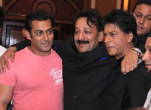 Salman and Shah Rukh Khan with Baba Siddiqui