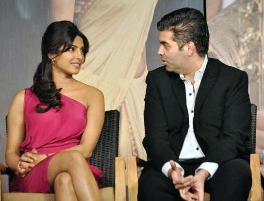 Priyanka Chopra and Karan Johar