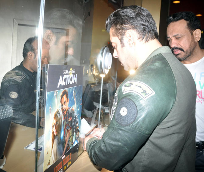Salman Khan buys a ticket