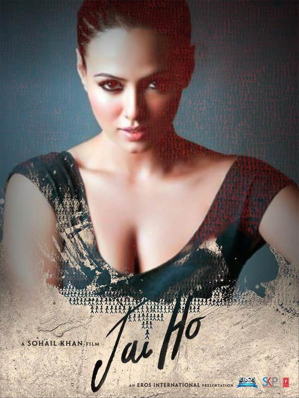 Sana Khan on Jai Ho poster