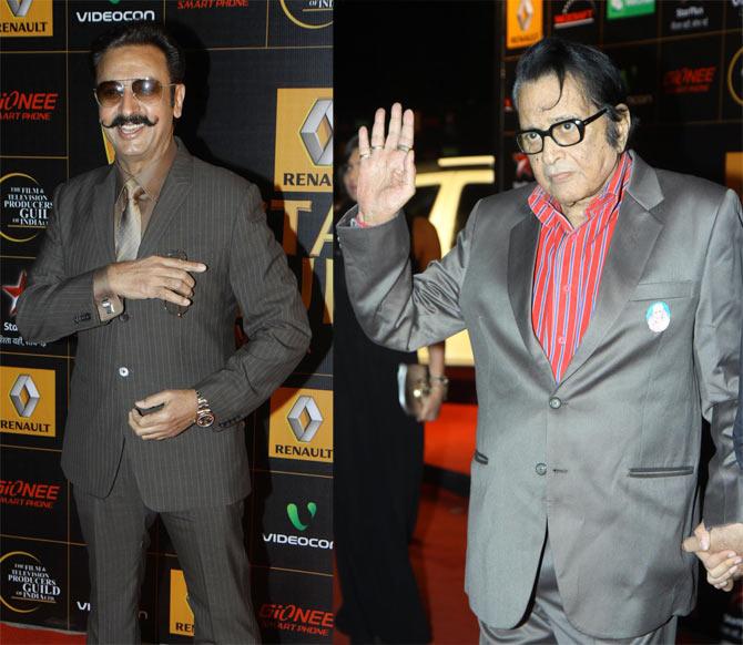 Gulshan Grover and Manoj Kumar