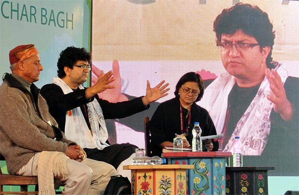 Prasoon Joshi and Shekhar Pathak in conversation with Manjushree Thapa