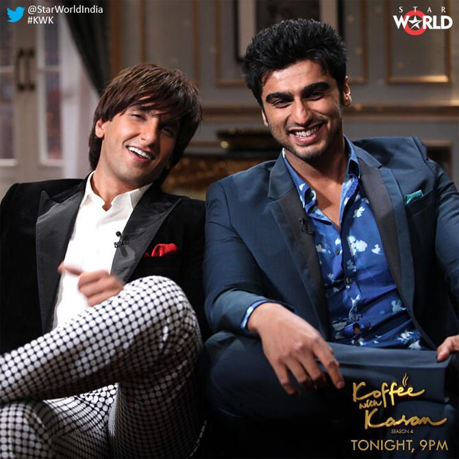Ranveer Singh and Arjun Kapoor on Koffee With Karan