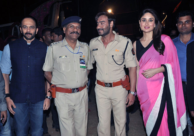 Rohit Shetty, Ajay Devgn and Kareena Kapoor
