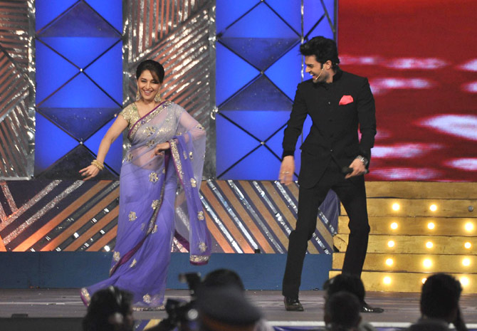Madhuri Dixit and Manish Paul