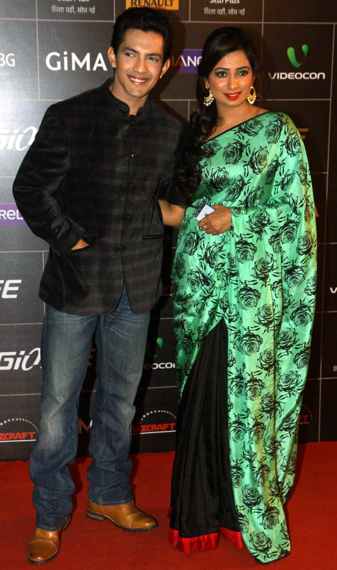 Aditya Narayan and Shreya Ghoshal