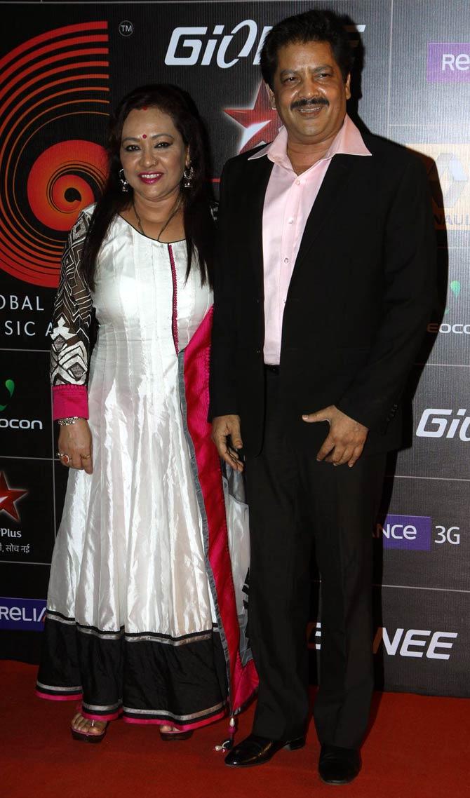 Udit Narayan and Deepa
