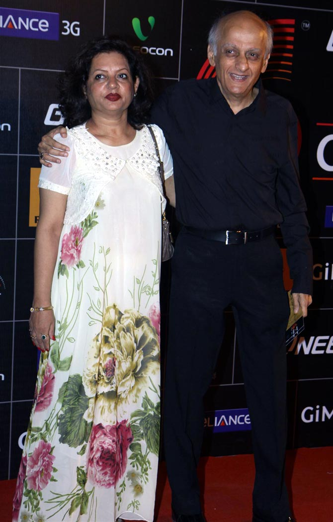 Mukesh Bhatt with Nilima