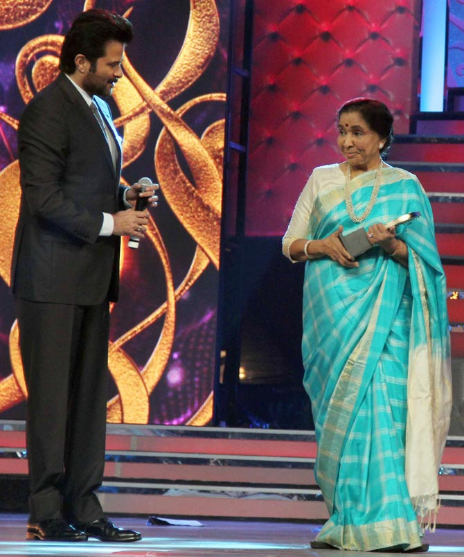 Anil Kapoor and Asha Bhosle