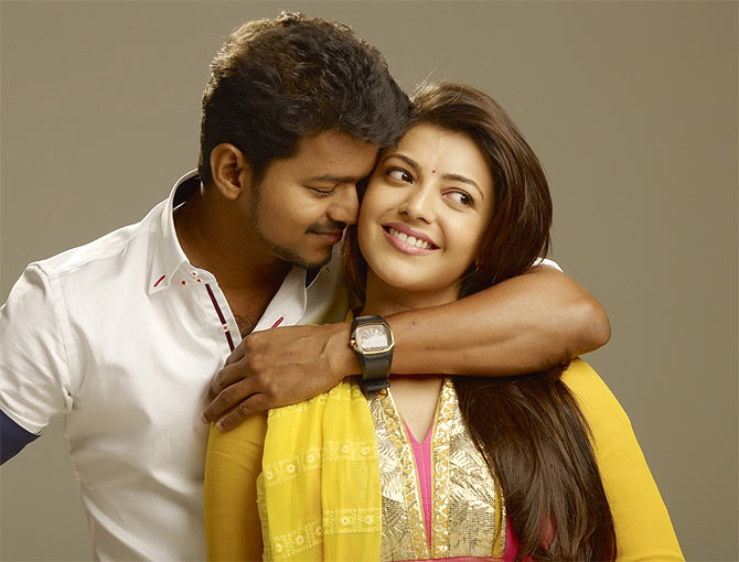 Vijay and Kaajal Agarwal in Jilla